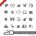 Communication Icons // Basics — Stock Vector