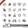 Sports Icons // Basics — Stock Vector