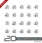 Documenten icons - set 1 van 2 // basics — Stockvector