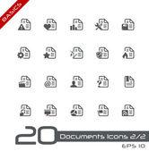 Documents Icons - Set 2 of 2 // Basics — Stock Vector