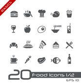 ícones do alimento - jogo 1 de 2 // básico — Vetorial Stock