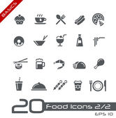 Food Icons - Set 2 of 2 // Basics — Stok Vektör