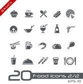 Voedsel pictogrammen - set 2 van 2 // basics — Stockvector