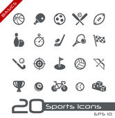 Os ícones dos esportes // básico — Vetorial Stock