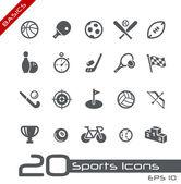 Sport pictogrammen // basics — Stockvector