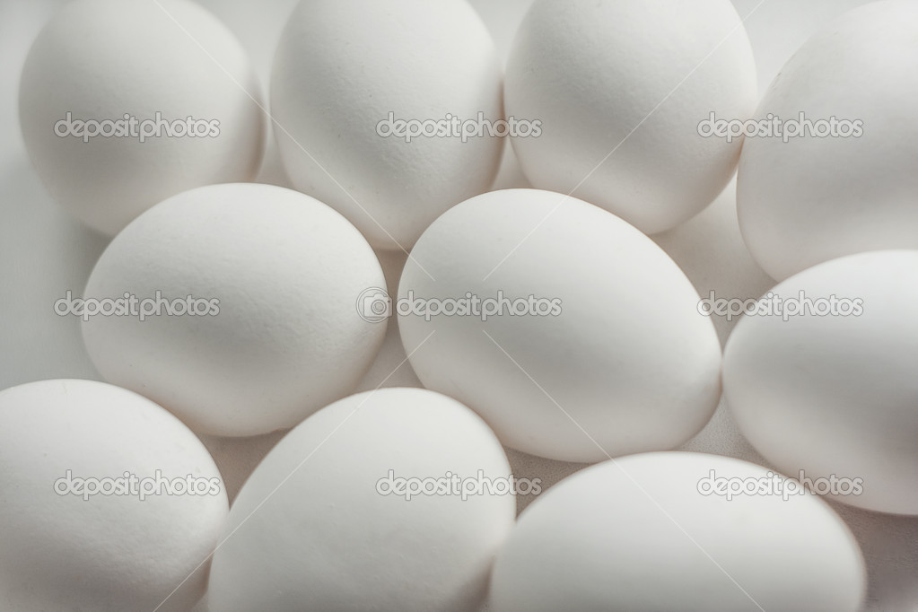 Background from ten white eggs — Stock Photo #11724746