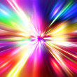 Colorful  radial radiant effect - Stock Photo