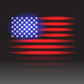 American flag neon — Stock Vector