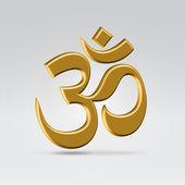 Golden om symbol — Stock Vector