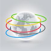 World hola hoops — Stock Vector