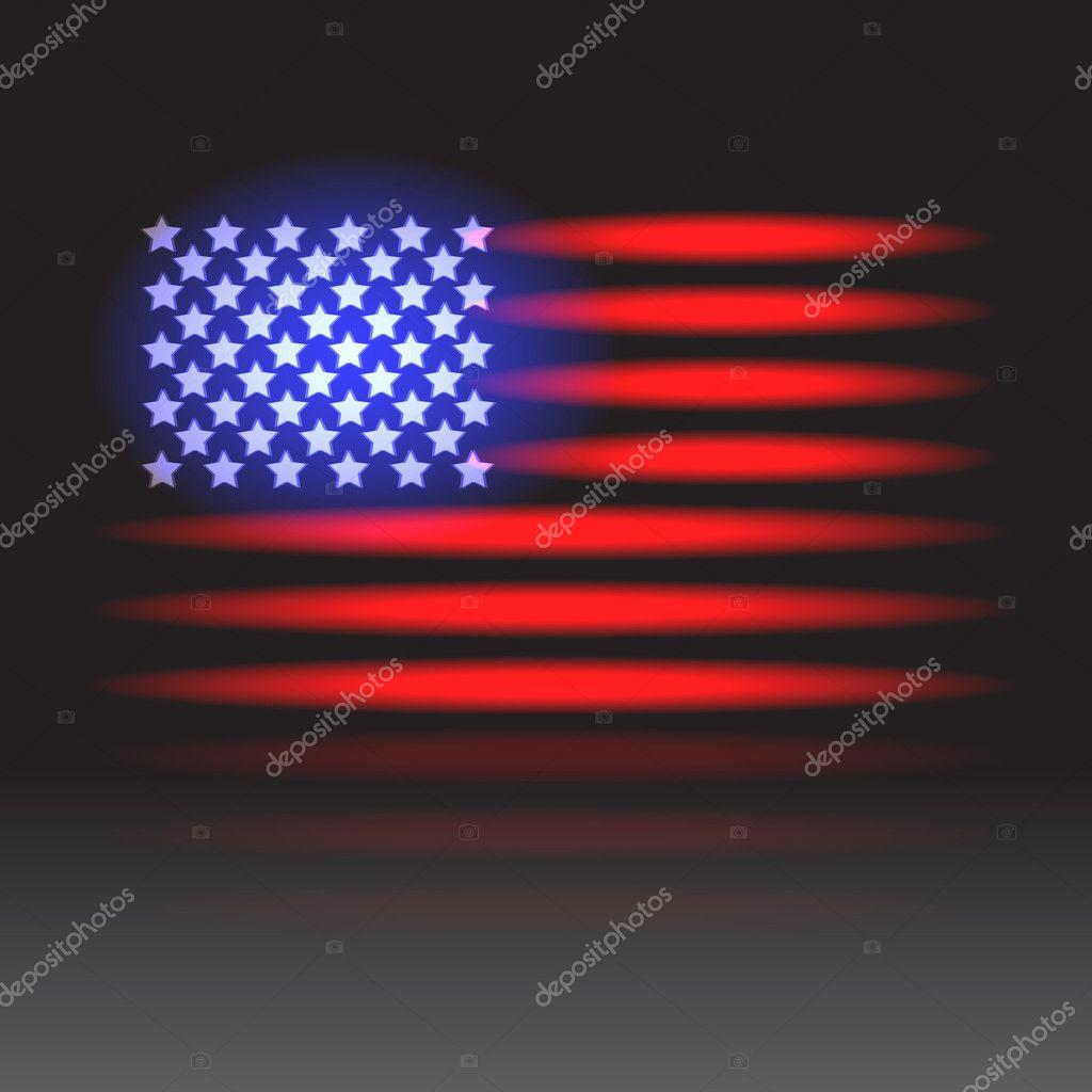 American Flag Lights American Flag Neon Lights on a