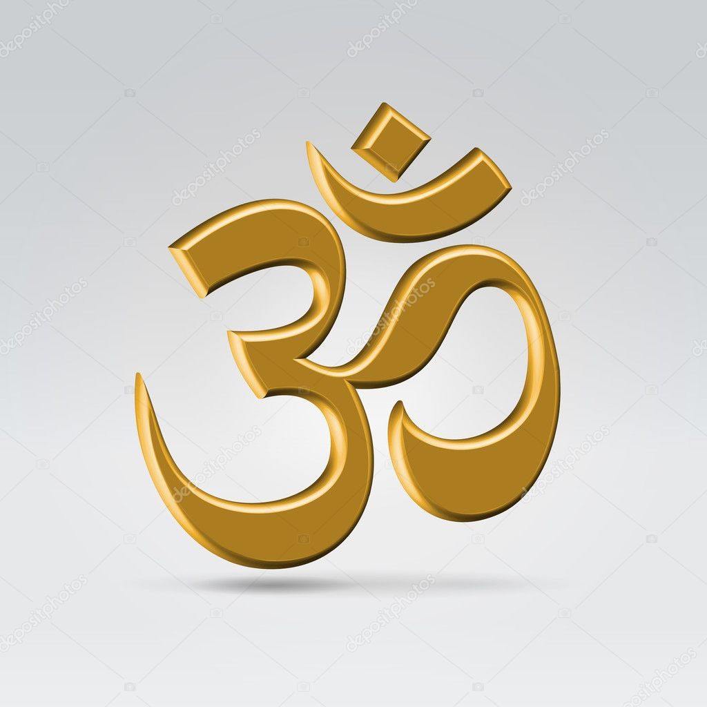 Golden om symbol stock vector illuland 11092574 Om symbol images download
