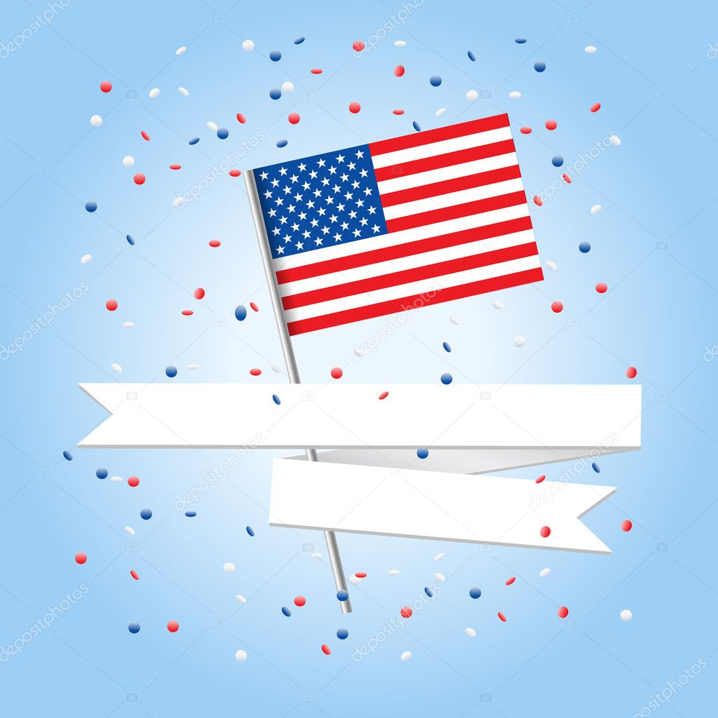 4 july celebration greeting car  Stock Vector #11222300