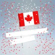 Festive Canada Day postcard — Stock Vector