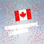 Festive Canada Day postcard — Stock Vector