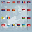 Royalty-Free Stock Vector Image: 21 european countries over european map