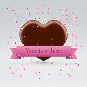 Chocolate heart postcard — Stock Vector