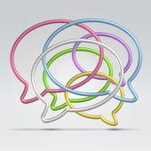 Wire dialogue balloons — Stock Vector