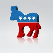 Mule symbol american vote campaign — Stock Vector
