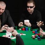 Serious card game — Stock Photo