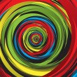 Abstract rainbow swirl — Imagen vectorial