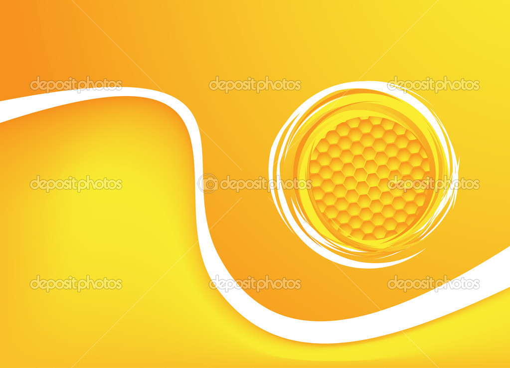 Honey background. Vector illustration. Clip-art — Векторная иллюстрация #12003489
