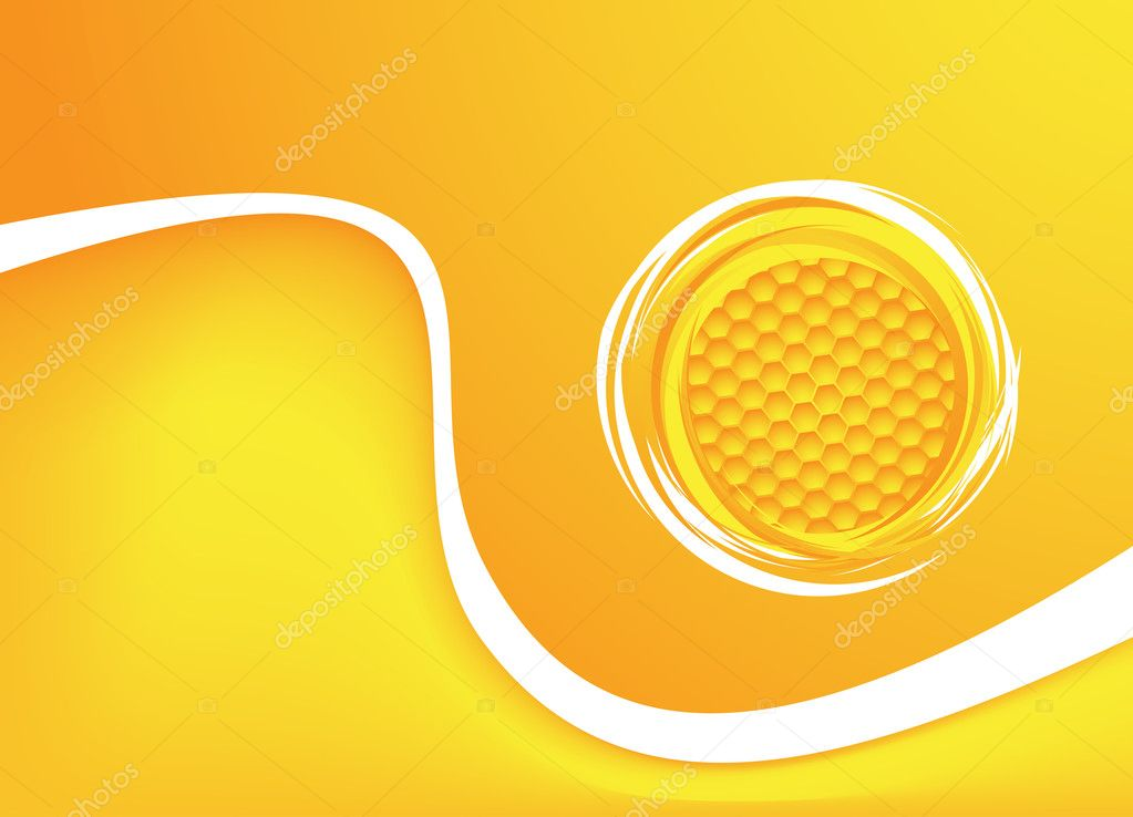 Honey background. Vector illustration. Clip-art — Stockvektor #12003489