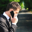 Business man with phone — Stock Photo
