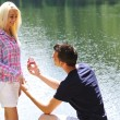 Young man proposal — Stock Photo