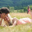 Young couple in nature — Stock Photo
