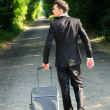 Business man on road — Stock Photo #11696930