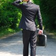 Business man walking — Stock Photo