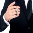 Isolated business man — Stock Photo