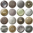 Stock Photo: Vintage buttons