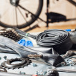 Stock Photo: Bike repairing