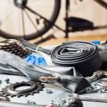 Bike repairing — Stock Photo