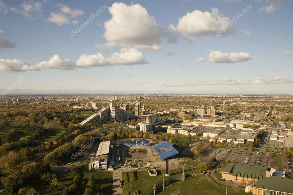 Aerial view of Montreal and the St Lawerence — Stock Photo #11063204