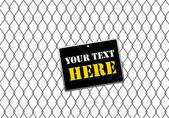 Banner op een hek - vectorillustratie - jpeg versie in mijn portefeuille — Stockvector