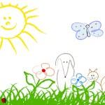 Cute child handmade drawing — Stock Vector #12085468