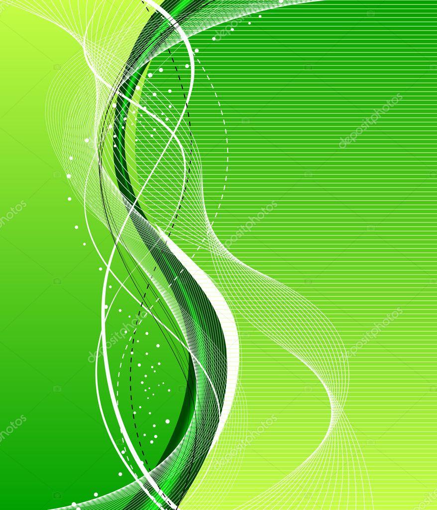 用水和树叶抽象绿色背景滴眼液