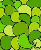Composição abstrata verde - ilustração vetorial — Vetorial Stock