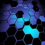 Blue abstract hexagon background — Stock Vector #12114699