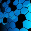 Royalty-Free Stock Vector Image: Blue abstract hexagon background