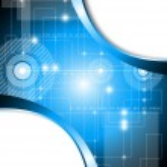 blauwe technologie achtergrond - vectorillustratie — Stockvector
