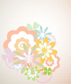 абстрактный цветочный фон - векторные иллюстрации — Cтоковый вектор