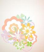 Floral abstrait - illustration vectorielle — Vecteur