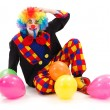 Clown with colorful balloons — Stock Photo #10820977
