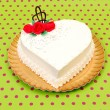 White heart cake — Stock Photo #12179654