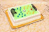 Soccer cake — Stock Photo