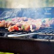 Spring barbecue — Stock Photo